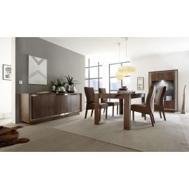 Table de repas avec allonge en chêne cognac SKY