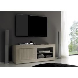 Meuble TV  porte et espace de rangement  Rustica