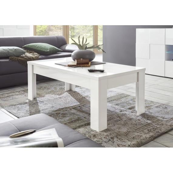Table Basse Dama Laque Blanc