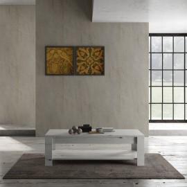 Table basse double plateau LAND chêne blanchi