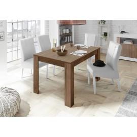 Table fixe URBINO noyer foncé