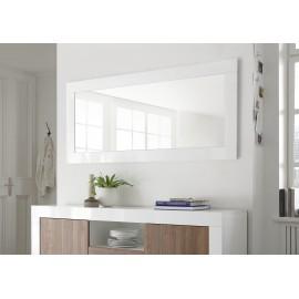 Miroir URBINO laqué blanc brillant
