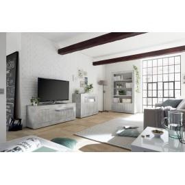 Meuble TV 3 portes URBINO beton