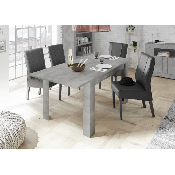 Table avec allonge URBINO beton