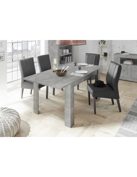 Table avec allonge URBINO beton