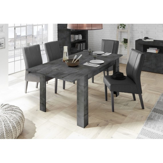 Table avec allonge URBINO oxyde