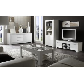 Table basse Laqu blanc brillant  Amalfi