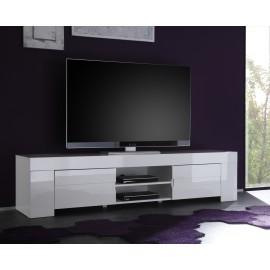 Meuble TV Laqu Blanc Eos