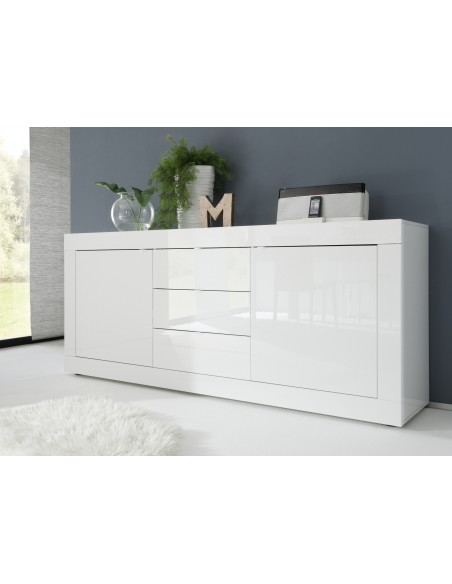 Buffet  portes et  tiroir blanc  Basic