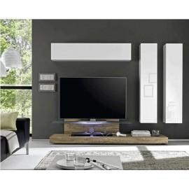 Composition meuble TV base et  meubles de rangement  Cube